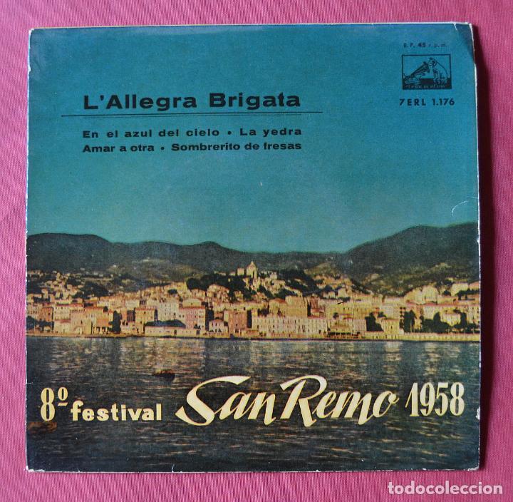 L´ALLEGRA BRIGATA - 8º FESTIVAL DE SAN REMO 1958 - EP - LA VOZ DE SU AMO (Música - Discos de Vinilo - EPs - Otros Festivales de la Canción)
