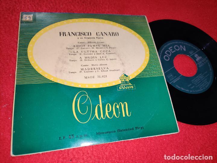 FRANCISCO CANARO ORQ.TIPICA ADIOS PAMPA MIA/LA ULTIMA COPA +2 EP 195? ODEON ESPAÑA SPAIN TANGO (Música - Discos de Vinilo - EPs - Grupos y Solistas de latinoamérica)