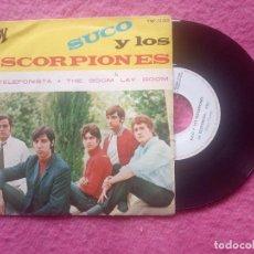 Discos de vinilo: SINGLE SUCO Y LOS ESCORPIONES - LA TELEFONISTA / THE BOOM LAY BOOM -YNP-50001 - SINGLE (EX-/NM). Lote 221763587