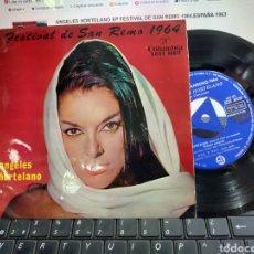 Discos de vinilo: ANGELES HORTELANO EP FESTIVAL DE SAN REMO 1964.ESPAÑA 1963. Lote 221771887