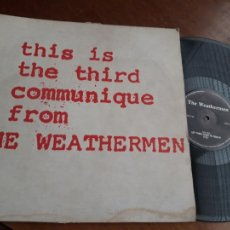 Discos de vinilo: THE WEATHERMEN – THIS IS THE THIRD COMMUNIQUE FROM THE WEATHERMEN-BELGICA-1986-MAXI. Lote 221776930