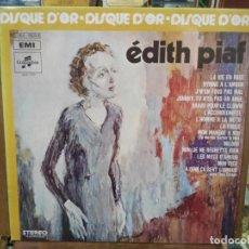 Discos de vinilo: ÉDITH PIAF - DISQUE D´OR - LP. DEL SELLO COLUMBIA / EMI DE 1972. Lote 221779008