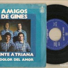Discos de vinilo: DISCO VINILO. SINGLE. AMIGOS DE GINES. VENTE A TRIANA. HISPAVOX. 45 - 1464. (P/C61). Lote 221782383