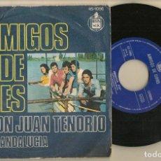 Discos de vinilo: DISCO VINILO. SINGLE. AMIGOS DE GINES. DON JUAN TENERIO. HISPAVOX. 45 - 1086. (P/C61). Lote 221782486