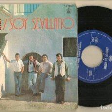 Discos de vinilo: DISCO VINILO. SINGLE. AMIGOS DE GINES. SOY SEVILLANO. HISPAVOX. 45 - 1822. (P/C61). Lote 221782553