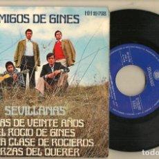 Discos de vinilo: DISCO VINILO. SINGLE. AMIGOS DE GINES. NIÑA DE VEINTE AÑOS. HISPAVOX. HH16-798. (P/C61). Lote 221782956