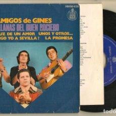 Discos de vinilo: DISCO VINILO. SINGLE. AMIGOS DE GINES. SEVILLANAS DEL BUEN ROCIERO. HISPAVOX. HH16-826. (P/C61). Lote 221782998