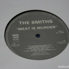 Discos de vinilo: EXPRO LP THE SMITHS MEAT IS MOURDER ROUGHT RADE UK 85 VINILO OK NO HAY TAPA. Lote 221783265