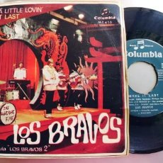 Discos de vinilo: LOS BRAVOS-SINGLE BRING A LITTLE LOVIN. Lote 221783332