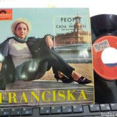 Discos de vinilo: FRANCISKA EP GENTE PEOPLE + 3 1966 EN PERFECTO ESTADO. Lote 221786016