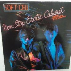 Discos de vinilo: SOFT CELL- NON STOP EROTIC CABARET- SPAIN LP 1981 + ENCARTE- VINILO EXC. ESTADO.. Lote 221787187