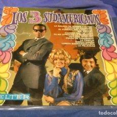 Discos de vinilo: EXPRO LP LOS TRES SUDAMERICANOS IDEM BELTER 1968 ESTADO MUY ACEPTABLE. Lote 221789351