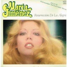 Discos de vinilo: MARÍA JIMÉNEZ - RESURRECCIÓN DE LA ALEGRÍA - LP 1979 - PORTADA DOBLE. Lote 221789360