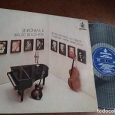 Disques de vinyle: WALDO DE LOS RÍOS. SINFONÍAS 2. EDICIÓN ORIGINAL HISPAVOX, 1974.LP. Lote 221789523