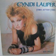 Discos de vinilo: CYNDI LAUPER- TIME AFTER TIME - SPAIN PROMO MAXI SINGLE 1984 - VINILO COMO NUEVO.. Lote 221790486