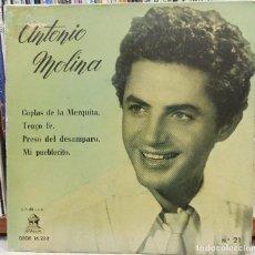 Discos de vinilo: ANTONIO MOLINA / ODEÓN N 21 - DSOE 16232. Lote 221791272