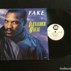 "Discos de vinilo: ALEXANDER O'NEAL FAKE - EXTENDED 12"" GERMANY. Lote 221792575"