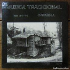 Discos de vinilo: MÚSICA TRADICIONAL, VOLÚMENES. 2,3,4 Y 5 - SANABRIA - 1986 - CAJA CON 4 LP'S Y LIBRETO - ZAMORA. Lote 221793875