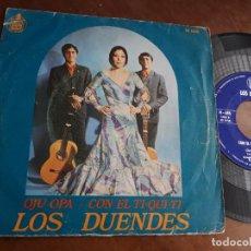 Discos de vinilo: LOS DUENDES OJU OPA SINGLE- RUMBA-ESPAÑA-1971. Lote 221795386