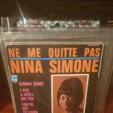 Discos de vinilo: NINA SIMONE / NE ME QUITTE PAS / EDICIÓN FRANCESA / PHILIPS 1969. Lote 221795950
