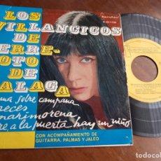 Discos de vinilo: LOS VILLANCICOS DE TERREMOTO DE MÁLAGA. EP. SELLO IBEROFON. EDITADO EN ESPAÑA. AÑO 1963-. Lote 221796672