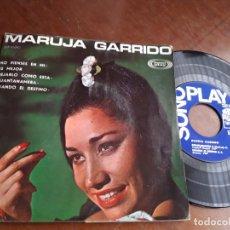 Discos de vinilo: MARUJA GARRIDO - NO PIENSES EN MI / ES MEJOR DEJARLO COMO ESTA +2 - SONOPLAY SBP-10042 - 1967-. Lote 221797157