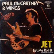 Discos de vinilo: PAUL MCCARTNEY & WINGS (THE BEATLES), JET. SINGLE ESPAÑA. Lote 221798066