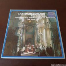 Discos de vinilo: CANTO GREGORIANO - MISA DE NAVIDAD - CORO DE MONJES DE LA ABADIA BENEDICTINA DE SAN MARTIN. Lote 221800888