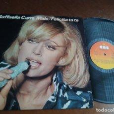 Discos de vinilo: RAFFAELLA CARRÀ – MALE / FELICITA TA TA - LP SPAIN 1976-. Lote 221801210