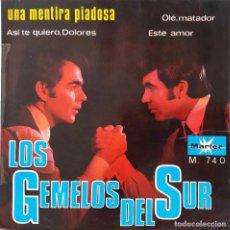 Discos de vinilo: LOS GEMELOS DEL SUR. UNA MENTIRA PIADOSA + 3. EP. Lote 221803083