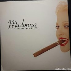 Discos de vinilo: MADONNA - DEEPER AND DEEPER - DOBLE MAXISINGLE PROMOCIONAL - USA - 12 MIXES - MUY RARO - NO CORREOS. Lote 221815853