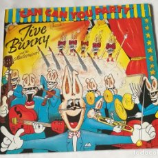 Discos de vinilo: JIVE BUNNY AND THE MASTERMIXERS - CAN CAN YOU PARTY - 1990. Lote 221825752