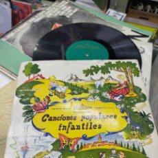 Discos de vinilo: CANCIONES POPULARES INFANTILES LP 10'' ALHAMBRA 195?. Lote 221826588
