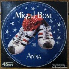 Discos de vinilo: MIGUEL BOSÉ - ANNA (EN INGLÉS) / EL JUEGO DEL AMOR - 1978 - PROMOCIONAL. Lote 221827072