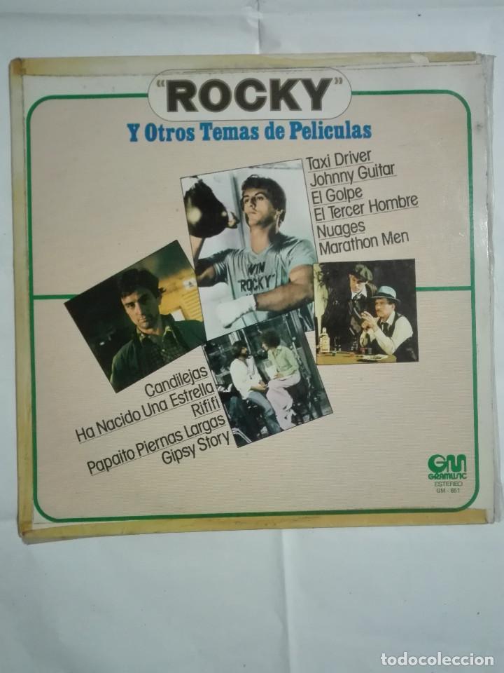LP DISCO DE VINILO 1977 MUSICA DE PELICULA ROCKY EL GOLPE TAXI DRIVER Y OTRAS BANDAS SONORAS - 210G (Música - Discos - LP Vinilo - Bandas Sonoras y Música de Actores )