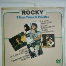 Discos de vinilo: LP DISCO DE VINILO 1977 MUSICA DE PELICULA ROCKY EL GOLPE TAXI DRIVER Y OTRAS BANDAS SONORAS - 210G. Lote 221827351