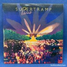 Discos de vinilo: LP DE SUPERTRAMP - PARIS -ESPAÑA- 1980 DOBLE LP -DPBLE PORTADA + ENCARTES. Lote 221833172