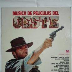Discos de vinilo: LP DISCO DE VINILO 1981 MUSICA DE PELICULAS DEL OESTE BANDAS SONORAS - 220G. Lote 221833851