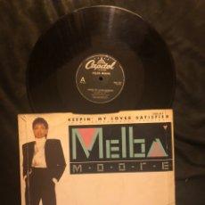 Discos de vinilo: MELBA MOORE – KEEPIN' MY LOVER SATISFIED. Lote 221840440