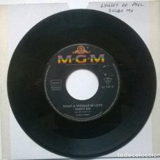 Discos de vinilo: SANDY POSEY. SHATTERED/ WHAT A WOMAN IN LOVE WON'T DO. MGM, GERMANY 1967 SINGLE. Lote 221840527