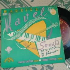 Discos de vinilo: EP ( VINILO) DE JEANNE GAUTIER - IVONNE LEFEBURE AÑOS 50. Lote 221864480