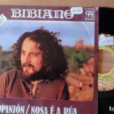Discos de vinilo: SINGLE (VINILO)-PROMOCION- DE BIBIANO AÑOS 70. Lote 221866496