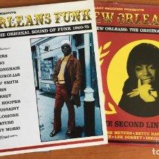 Discos de vinilo: NEW ORLEANS FUNK (NEW ORLEANS: THE ORIGINAL SOUND OF FUNK 1960-75) VOL 1 Y 2. 6XLPS VINILO. Lote 221874200