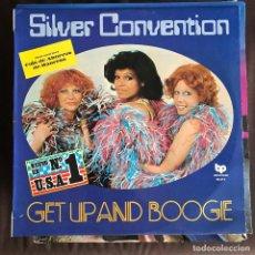 Discos de vinilo: SILVER CONVENTION - GET UP AND BOOGIE - LP BP SPAIN 1976 - CAJA DE AHORROS DE MANRESA. Lote 221875923