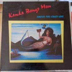 Discos de vinilo: KANDA BONGO MAN - AMOUR FOU / CRAZY LOVE (HANNIBAL RECORDS - HNBL 1337, UK, 1987). Lote 221879911