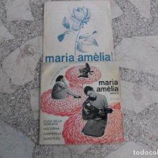 Discos de vinilo: SINGLE MARIA AMELIA PEDREROL, 1965, 4 CANÇONS,D´UNA VELLA XEMENEA, NOCTURNA,CAMPEROLA, QUAN PLOU,. Lote 221881326