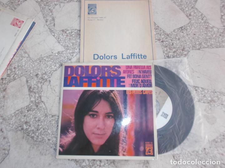 SINGLE DOLORS LAFFITTE, 1969, CONCENTRIC,4 CANÇONS,ELS PETITS CAFES,FELIÇ AQUELL QUE MOR D´AMOR, UNA (Música - Discos - Singles Vinilo - Cantautores Españoles)