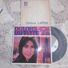 Discos de vinilo: SINGLE DOLORS LAFFITTE, 1969, CONCENTRIC,4 CANÇONS,ELS PETITS CAFES,FELIÇ AQUELL QUE MOR D´AMOR, UNA. Lote 221882592