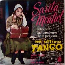 Discos de vinilo: SARITA MONTIEL. MI ÚLTIMO TANGO. MANIQUÍ PARISIEN + 3. BANDA SONORA. EP ESPAÑA. Lote 221883220