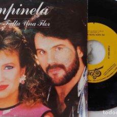 Discos de vinilo: PIMPINELA. ME HACE FALTA UNA FLOR. SINGLE ESPAÑA SOLO PROMOCIONAL GRABADO POR UNA SOLA CARA. Lote 221883841